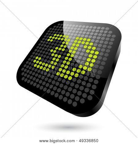 modern 3D sign