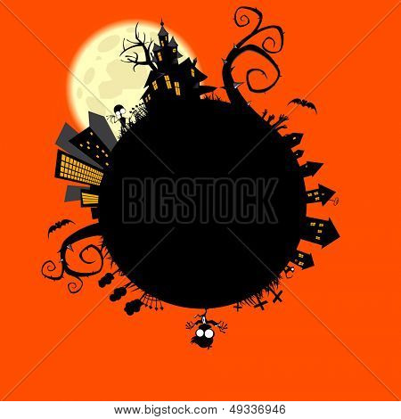 creepy halloween world
