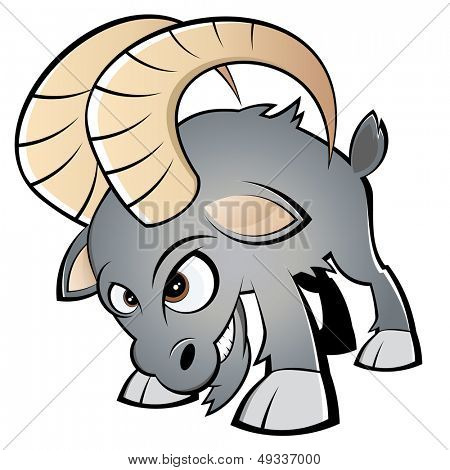 funny cartoon ram