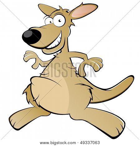 canguru engraçado dos desenhos animados
