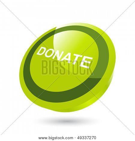 modern donation sign