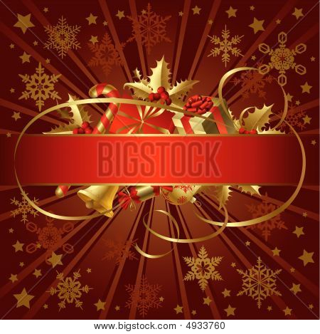 Gold Christmas Banner