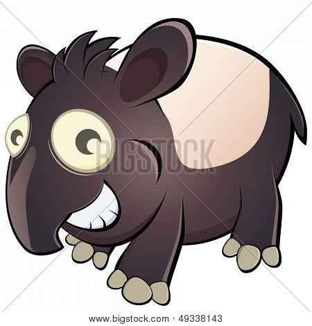 funny cartoon tapir