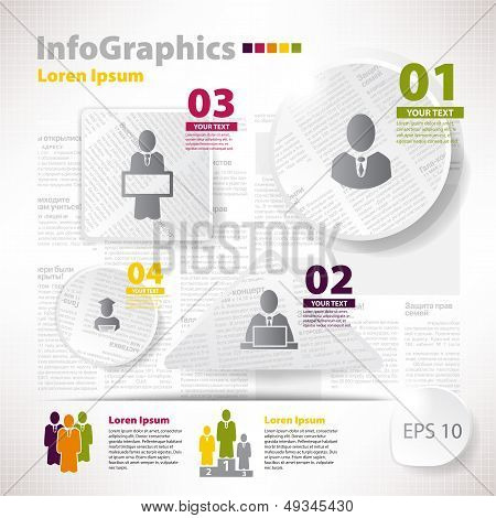 Modern Vector Elements For Infographics With Scraps Newspaper