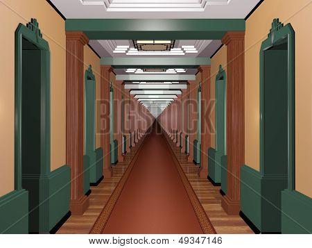 Never Ending Art Deco Corridor