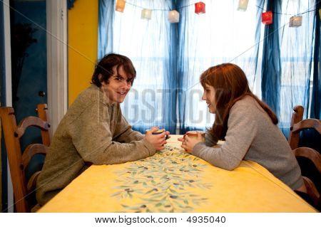 Teenage Couple Talking