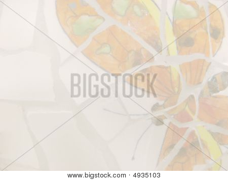 Orange Butterfly Stationary