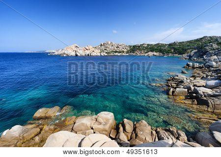 Wonderful Sea In Capo Testa, On North Of Sardinia. Italy