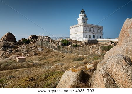 Lighthouse At The Capo Testa, Sardinia, Italy