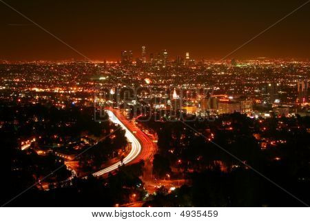 Skyline de Los Angeles de Mulholland Drive