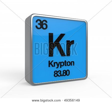 Krypton Element Periodic Table