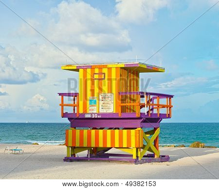 Miami Beach Florida lifeguard house