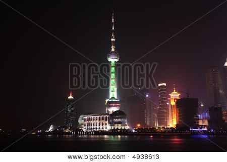 The Bund, Pudong, Shanghai Night