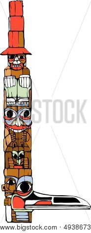 One Hat Totem Pole