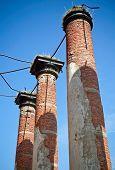 Abandoned Landmark: Pillars Of Old Military Quarters. poster