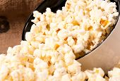 stock photo of sweetie  - Selective focus on pop corn in the cup - JPG