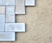 picture of briquette  - bricks installation - JPG