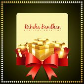 picture of rakshabandhan  - vector rakshabandhan greeting background design - JPG