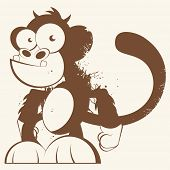 vintage cartoon monkey