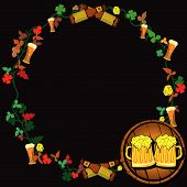 picture of tangelo  - Vector illustration of a beer wreath with two paints on a barrel - JPG