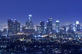 Los Angeles City Skyline At Night