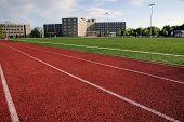 Modern Athletic Field At A Large Private University