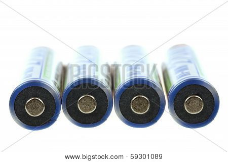 Macro Of Rechargeable Nimh Batteries