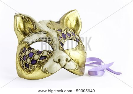 Venitian Cat Carnivale Mask