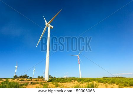 Aeolian Turbines In Calabria
