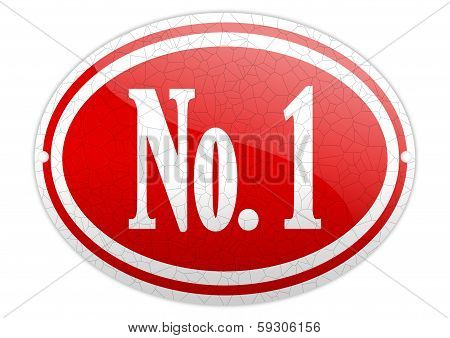 Red Oval Sign With The Word No 1