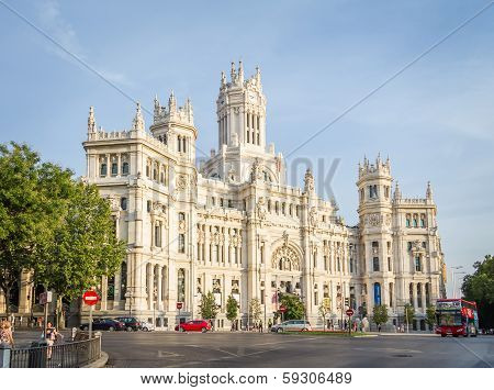 Palace of communications in Cibeles square, Madrid