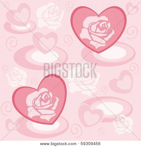 Heart With Rose Petals