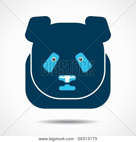 panda creative face stock vector