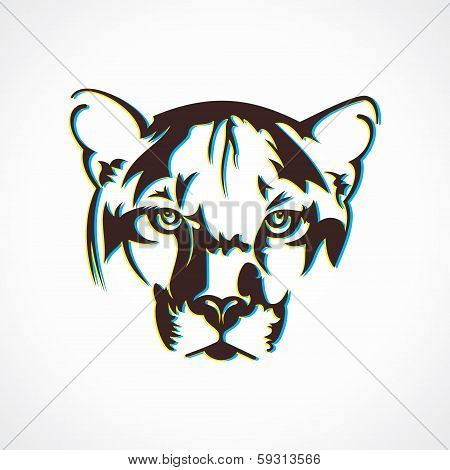 creative tiger face design stock vector