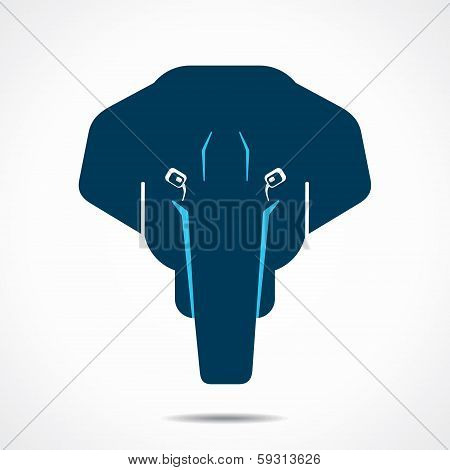 creative elephant face stock vector