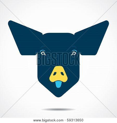 creative pig face design stock vector
