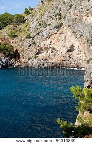 Torrent de Pareis - Sa Calobra bay in Majorca Spain
