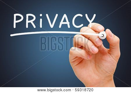 Privacy White Marker
