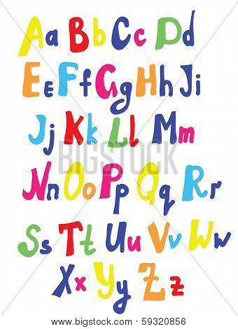 Funny font for kids cute design