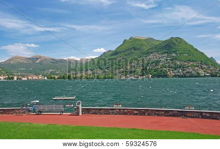Lugano,Lake Lugano,Ticino Canton,Switzerland
