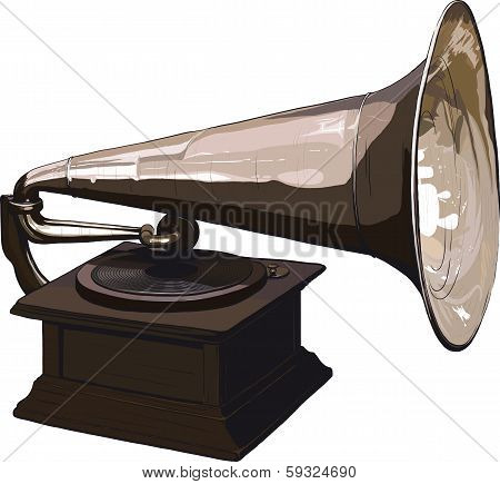 Old obsolete gramophone