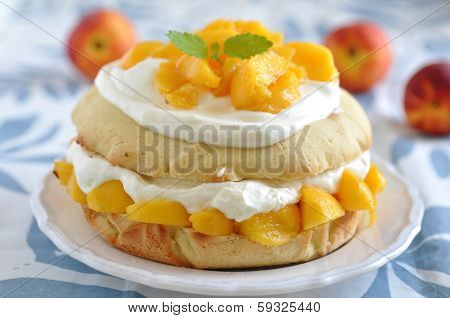 Peach and Cream Shortcake