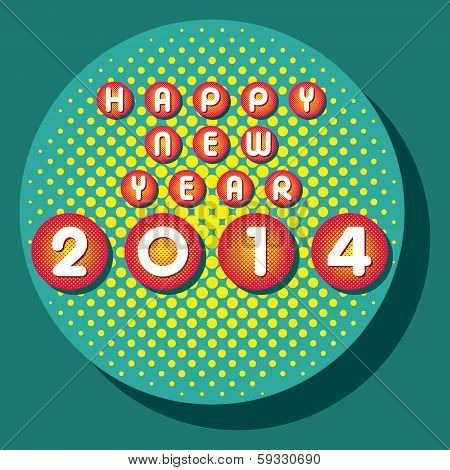 creative happy new year 2014 background