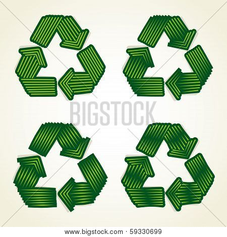 abstract recycle symbol vector