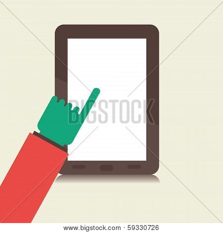 slide the tablet window concept vector