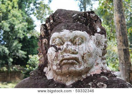 Stone Guardian Head, Angkor Wat, Cambodia
