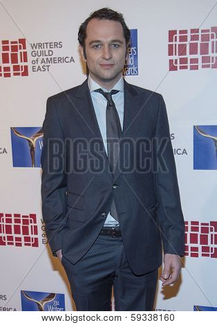 NEW YORK-FEB 1: Actor Matthew Rhys attends the 66th Annual Writers Guild Awards Ceremony at the Edison Ballroom on February 1, 2014 in New York City.
