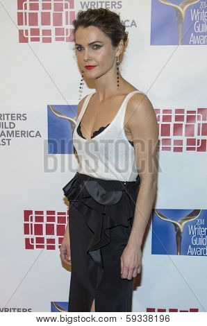 NEW YORK-FEB 1: Actress Keri Russell attends the 66th Annual Writers Guild Awards Ceremony at the Edison Ballroom on February 1, 2014 in New York City.