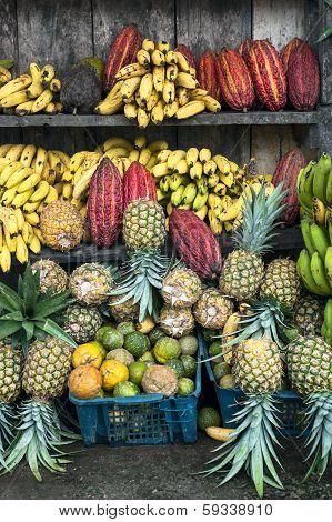 Latin America Fruit Street Market, Ecuador