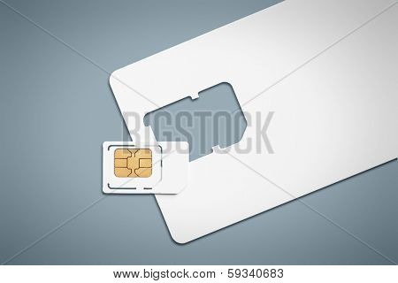 An image of a typical sim card